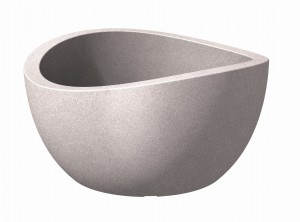 Donica misa Wave Globe Bowl taupe granit