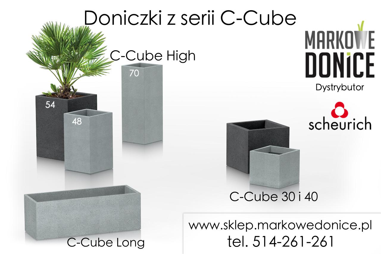 Wysoka Doniczka Słupek C Cube High Jak Z Betonu Architektonicznego